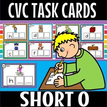 CVC SHORT O TASK CARDS.