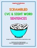 CVC & SIGHT WORD SENTENCE SCRAMBLES