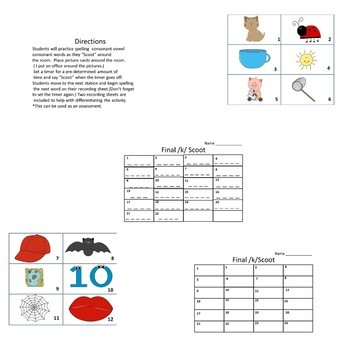CVC Scoot (Consonant Vowel Consonant Assessment Game)