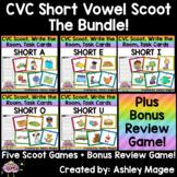 CVC Scoot! Short Vowel Bundle (includes bonus review game!)