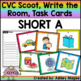 CVC Scoot! Short Vowels (Write the Room, Task Cards (with bonus review game!)