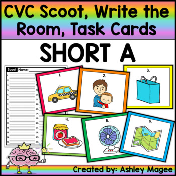 CVC Scoot! Short a Edition - Write the Room or Task Cards