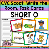CVC Scoot! Short o Edition - Scoot, Write the Room or Task Cards