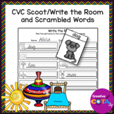 CVC Worksheets and Activities Scoot/Write the Room and Scrambled Words