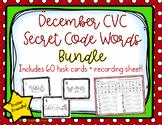 CVC Secret Code Words BUNDLE - December/Holiday Word Work