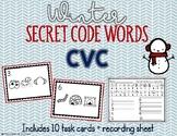 CVC Secret Code Words - Winter Word Work