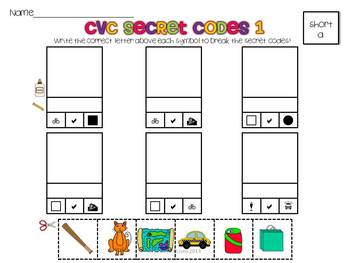 CVC Secret Codes: Short Vowels