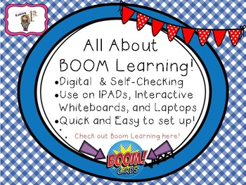 CVC See and Spell BOOM Task Cards!