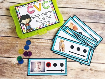 CVC Segment & Blend Cards with REAL Photos {Guided Reading Word Work}