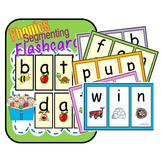 Segmenting & Phonemic Awareness Cards (Decoding CVC Words) Level 1