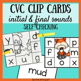 CVC Self-Checking Clip Cards: Beginning and Final Sounds