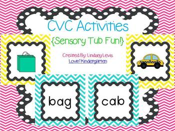 CVC Sensory Tub Activities