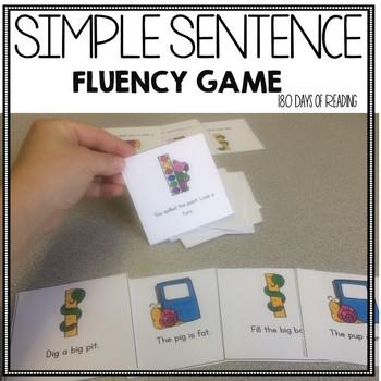 Back to School CVC Sentence Fluency Game