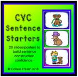 CVC Sentence Starter Posters/Slides
