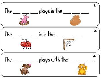 CVC Sentence Strips