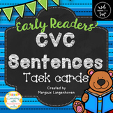 CVC Sentence Task Cards and Digital Boom Cards