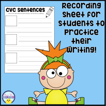 CVC Writing Cards: Hands on Center