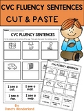 CVC Words Cut and Paste for Reading Fluency