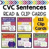 CVC Sentences Read & Clip Cards Bundle
