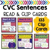 CVC Sentences Read & Clip Cards Bundle