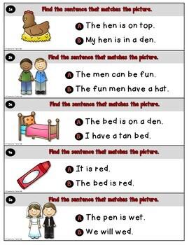 CVC Sentences for Reading Comprehension