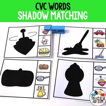 CVC Shadow Matching Task Cards