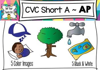 CVC Short A Clip Art ~ AP