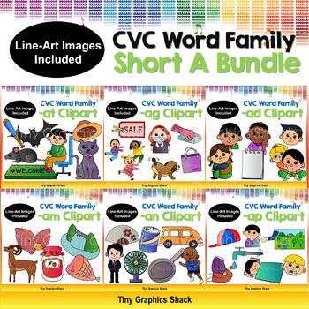 CVC Short A Clip Art Bundle