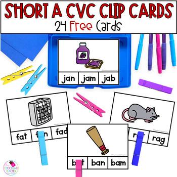 CVC Short A Clip Cards