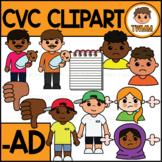 CVC Short A Clipart l -AD Word Family  l TWMM Clip Art