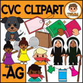 CVC Short A Clipart l -AG Word Family  l TWMM Clip Art