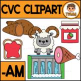 CVC Short A Clipart l -AM Word Family  l TWMM Clip Art