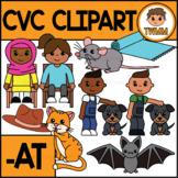 CVC Short A Clipart l -AT Word Family  l TWMM Clip Art