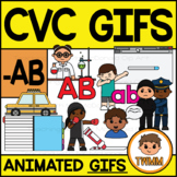 CVC Short A GIFs l -AB Word Family  l TWMM Clip Art