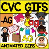 CVC Short A GIFs l -AG Word Family  l TWMM Clip Art