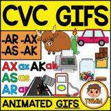 CVC Short A GIFs l AK, AR, AS, & AX Word Families  l TWMM