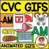 CVC Short A GIFs l -AM Word Family  l TWMM Clip Art