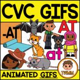 CVC Short A GIFs l -AT Word Family  l TWMM Clip Art