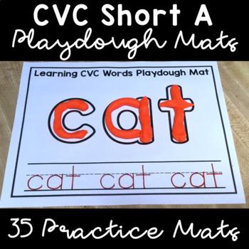 CVC Short A Playdough Mats & Writing Practice