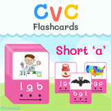 [FREE] CVC Short A - Printable Flashcards   Learn & Practi