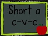 CVC Short A Sound Segmenting