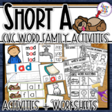 Short 'a' - 11 CVC word family activities with word cards & posters