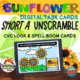 CVC Short A Sunflower | Letters Unscramble BOOM Cards