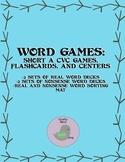 CVC Short A Vowel Words Games