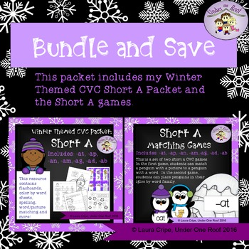 CVC Short A Winter Themed Bundle