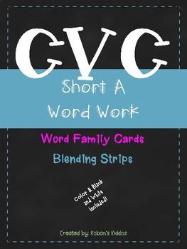 CVC (Short A) Word Family Sort and Blending Strips