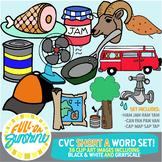 CVC Short A Word Set [Full-On Sunshine Clip Art]