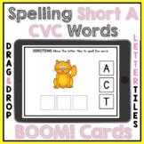CVC Words Short A Spelling Activity Boom Cards