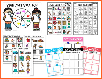 CVC Worksheets - Short A CVC Words