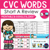 CVC Worksheets - Short A Activities